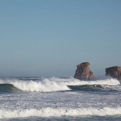 La plage d'Hendaye, au Pays Basque